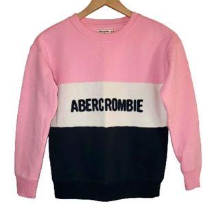 Abercrombie Kids Girls Colorblock Sweatshirt 9/10